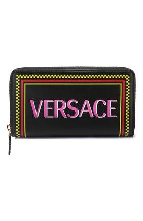 Женские кожаный кошелек VERSACE черного цвета, арт. DPDG326L/D3VLV | Фото 1