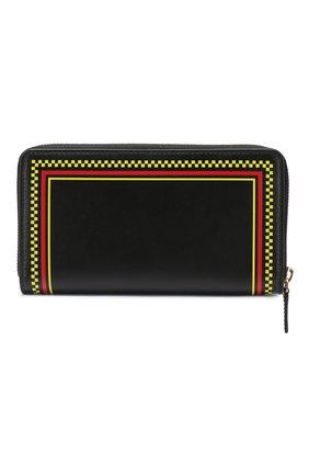 Кожаный кошелек Versace черного цвета   Фото №2