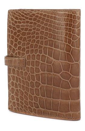 Женские портмоне из кожи крокодила RUBEUS MILANO темно-бежевого цвета, арт. 08 CELLIGBROW01 | Фото 2