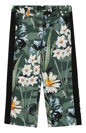 Укороченные брюки из шелка и вискозы | Фото №1