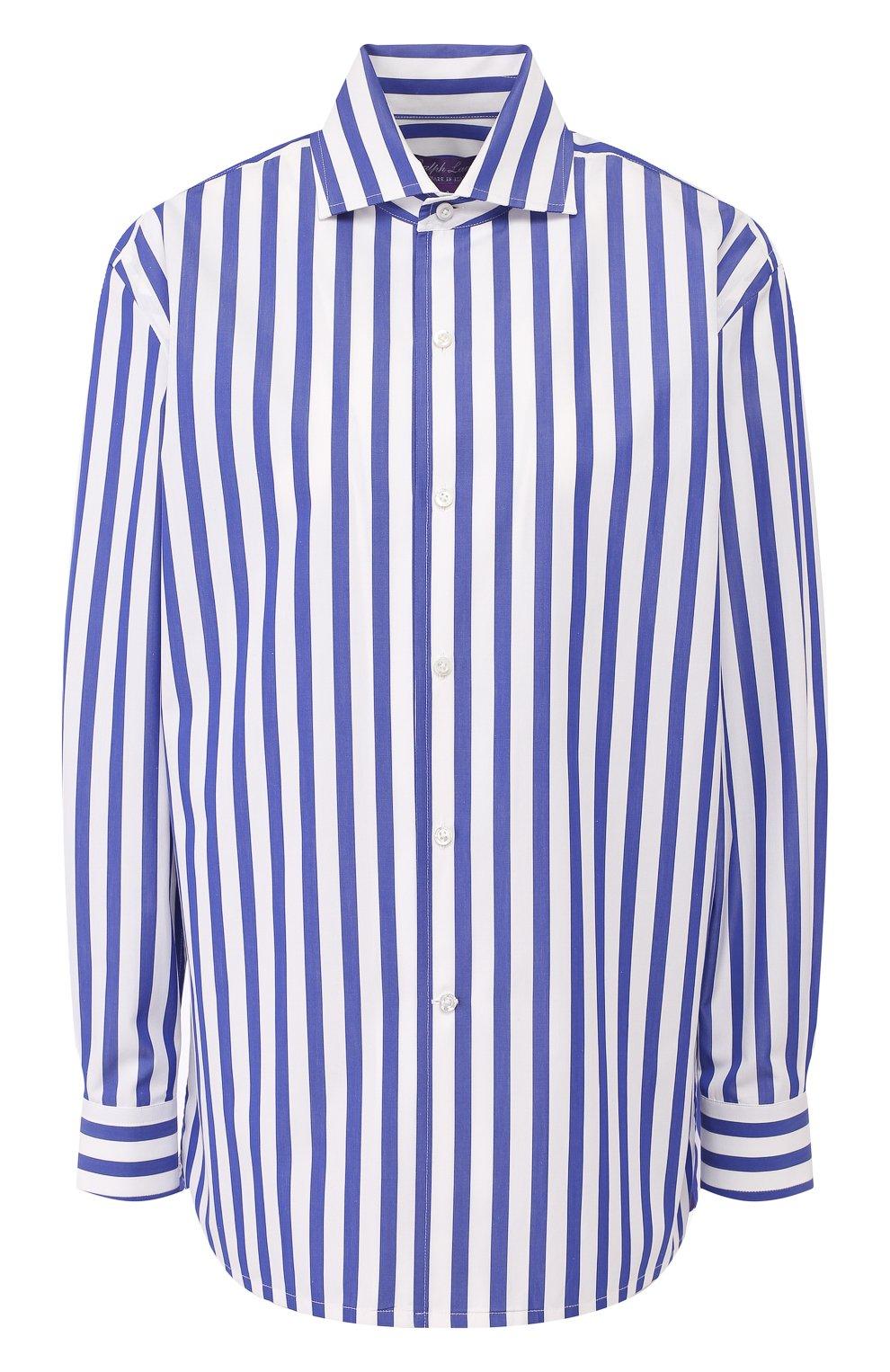 Женская хлопковая рубашка в полоску RALPH LAUREN белого цвета, арт. 290649380 | Фото 1
