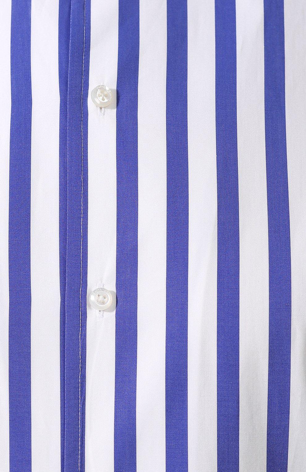 Женская хлопковая рубашка в полоску RALPH LAUREN белого цвета, арт. 290649380 | Фото 5