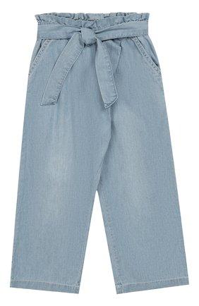 Укороченные джинсы с поясом | Фото №1