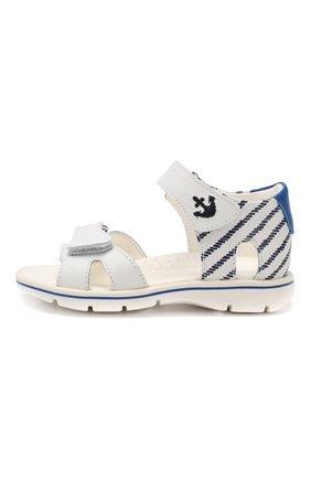 Детские кожаные сандалии WALKEY белого цвета, арт. Y1B2-40264-0658 | Фото 2