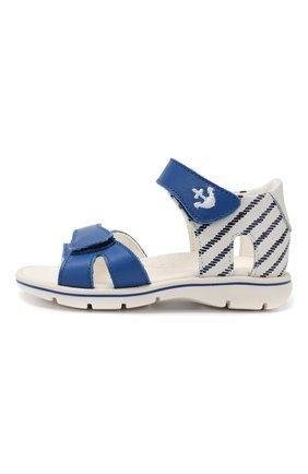 Детские кожаные сандалии WALKEY синего цвета, арт. Y1B2-40264-0658 | Фото 2