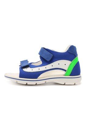 Детские сандалии из текстиля и кожи WALKEY синего цвета, арт. Y1B2-40269-0659 | Фото 2