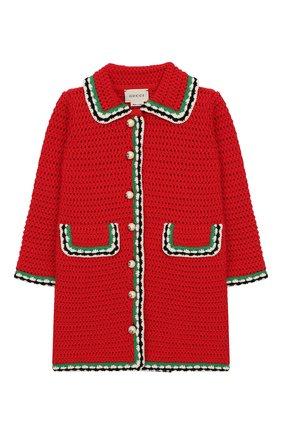 Вязаное пальто из хлопка | Фото №1