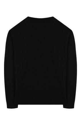 Детский шерстяной пуловер DOLCE & GABBANA черного цвета, арт. L4KW31/JAV0D/2-6   Фото 2