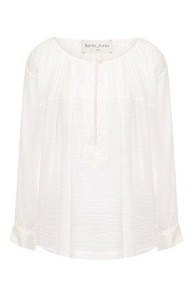 Блузка из хлопка и шелка | Фото №1