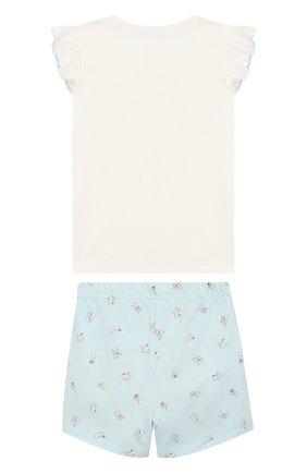 Детская хлопковая пижама SANETTA белого цвета, арт. 232257 | Фото 2