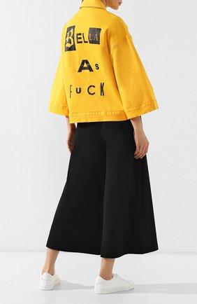 Женская джинсовая куртка 5PREVIEW желтого цвета, арт. U010   Фото 2