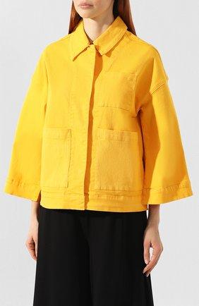 Женская джинсовая куртка 5PREVIEW желтого цвета, арт. U010   Фото 3