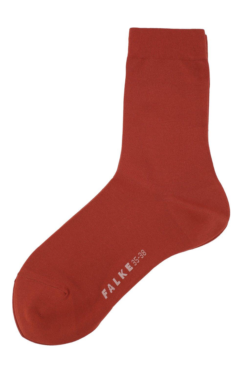 Женские носки cotton touch FALKE оранжевого цвета, арт. 47673_19_ | Фото 1