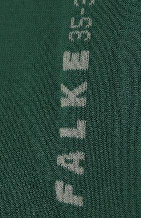 Женские носки cotton touch FALKE темно-зеленого цвета, арт. 47673_19_ | Фото 2