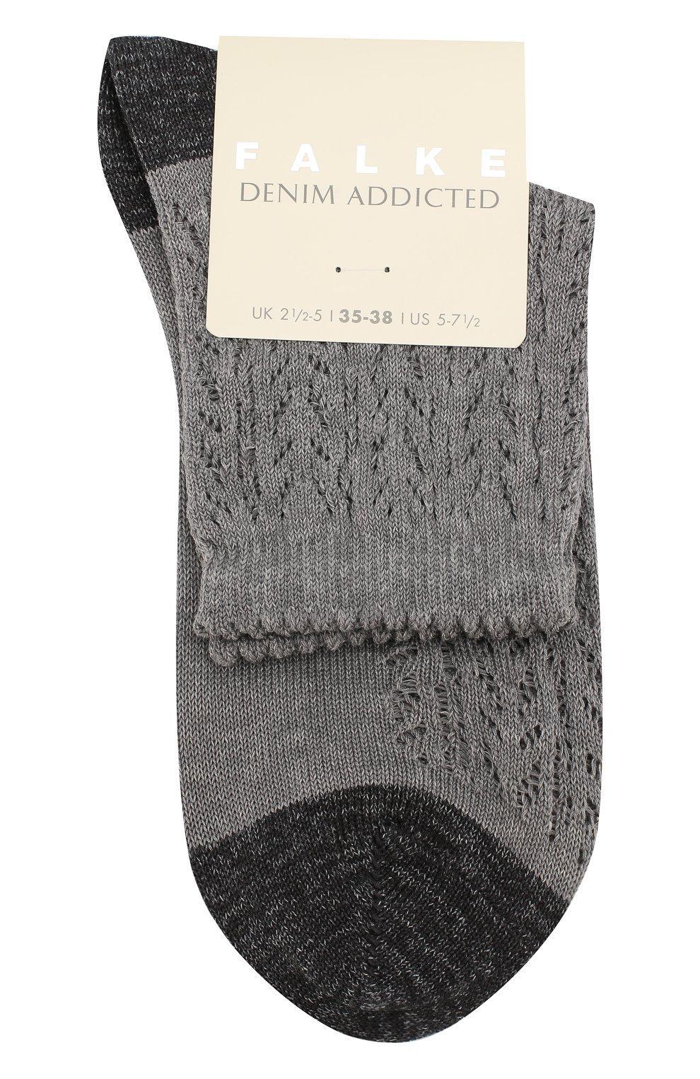 Женские носки denum crosh.ss  FALKE серого цвета, арт. 46305_19_ | Фото 1