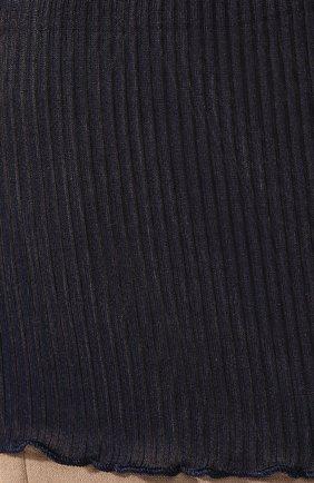 Женская шелковая майка DANA PISARRA синего цвета, арт. PARIGI/SE03 | Фото 5