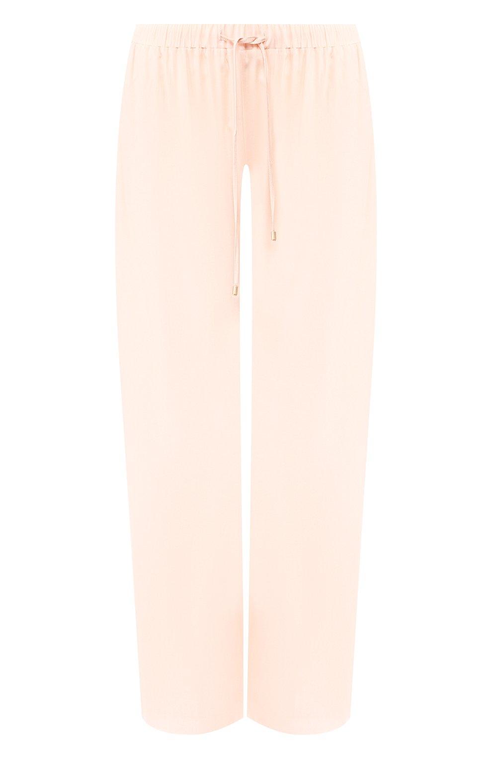 Женские брюки из вискозы HANRO светло-розового цвета, арт. 077617 | Фото 1