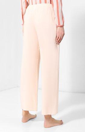 Женские брюки из вискозы HANRO светло-розового цвета, арт. 077617 | Фото 4