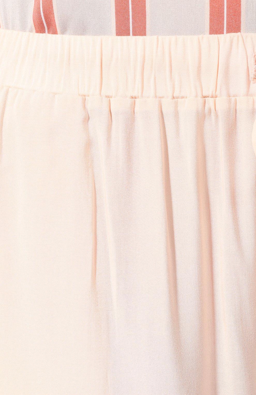 Женские брюки из вискозы HANRO светло-розового цвета, арт. 077617 | Фото 5