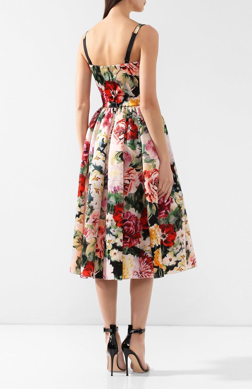 Шелковое платье Dolce & Gabbana разноцветное | Фото №4