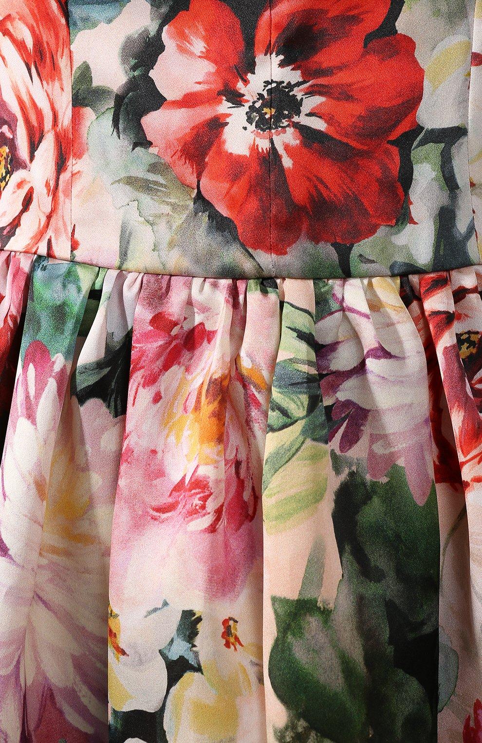 Шелковое платье Dolce & Gabbana разноцветное | Фото №5