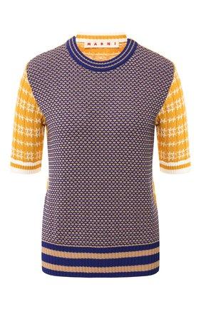Хлопковый пуловер без рукавов | Фото №1