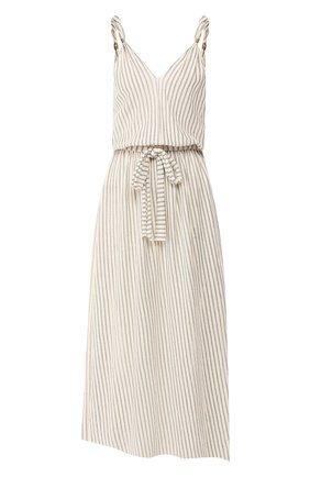 Платье из смеси хлопка и вискозы со льном | Фото №1