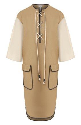 Платье из смеси льна и хлопка   Фото №1