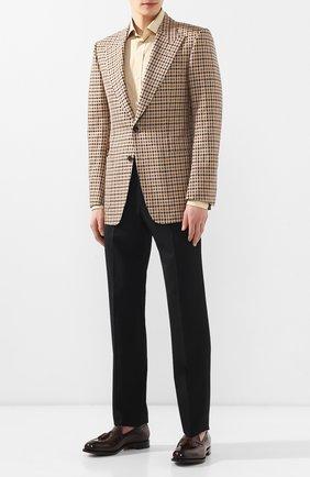 Мужские кожаные лоферы RALPH LAUREN темно-коричневого цвета, арт. 815976827 | Фото 2