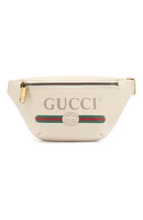 Кожаная поясная сумка Gucci Print small | Фото №1