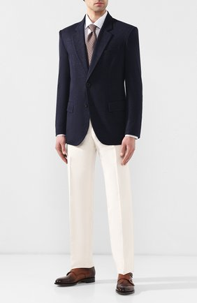 Мужская хлопковая сорочка с воротником кент KITON белого цвета, арт. UMCNERH0683401 | Фото 2