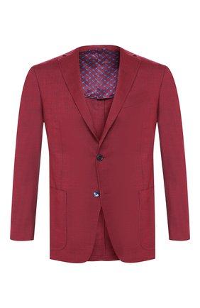 Мужской кашемировый пиджак ZILLI бордового цвета, арт. MNR-SG23-2-56253/0001 | Фото 1