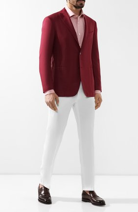 Мужской кашемировый пиджак ZILLI бордового цвета, арт. MNR-SG23-2-56253/0001 | Фото 2