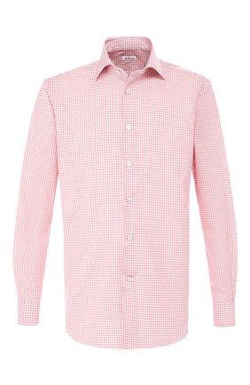 Мужская хлопковая сорочка с воротником акула KITON розового цвета, арт. UCIH0631009 | Фото 1