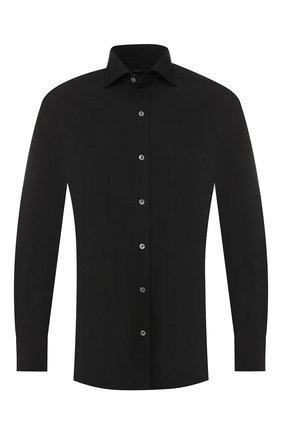 Мужская хлопковая сорочка с воротником кент TOM FORD черного цвета, арт. 5FT001/94S1AX | Фото 1