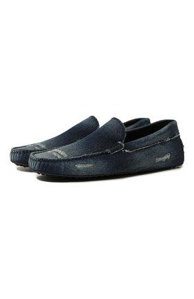 Мужские текстильные мокасины TOD'S синего цвета, арт. XXM0GW0X920IUB | Фото 1