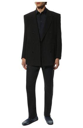 Мужские текстильные мокасины TOD'S синего цвета, арт. XXM0GW0X920IUB | Фото 2