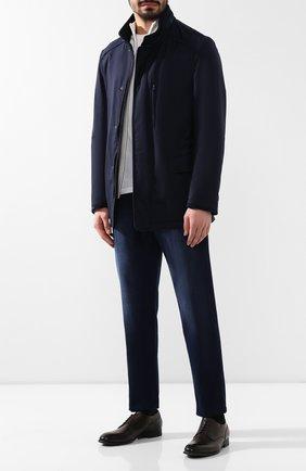 Мужская шерстяная куртка BRIONI темно-синего цвета, арт. SFND0L/P8A44/3XL-6XL | Фото 2