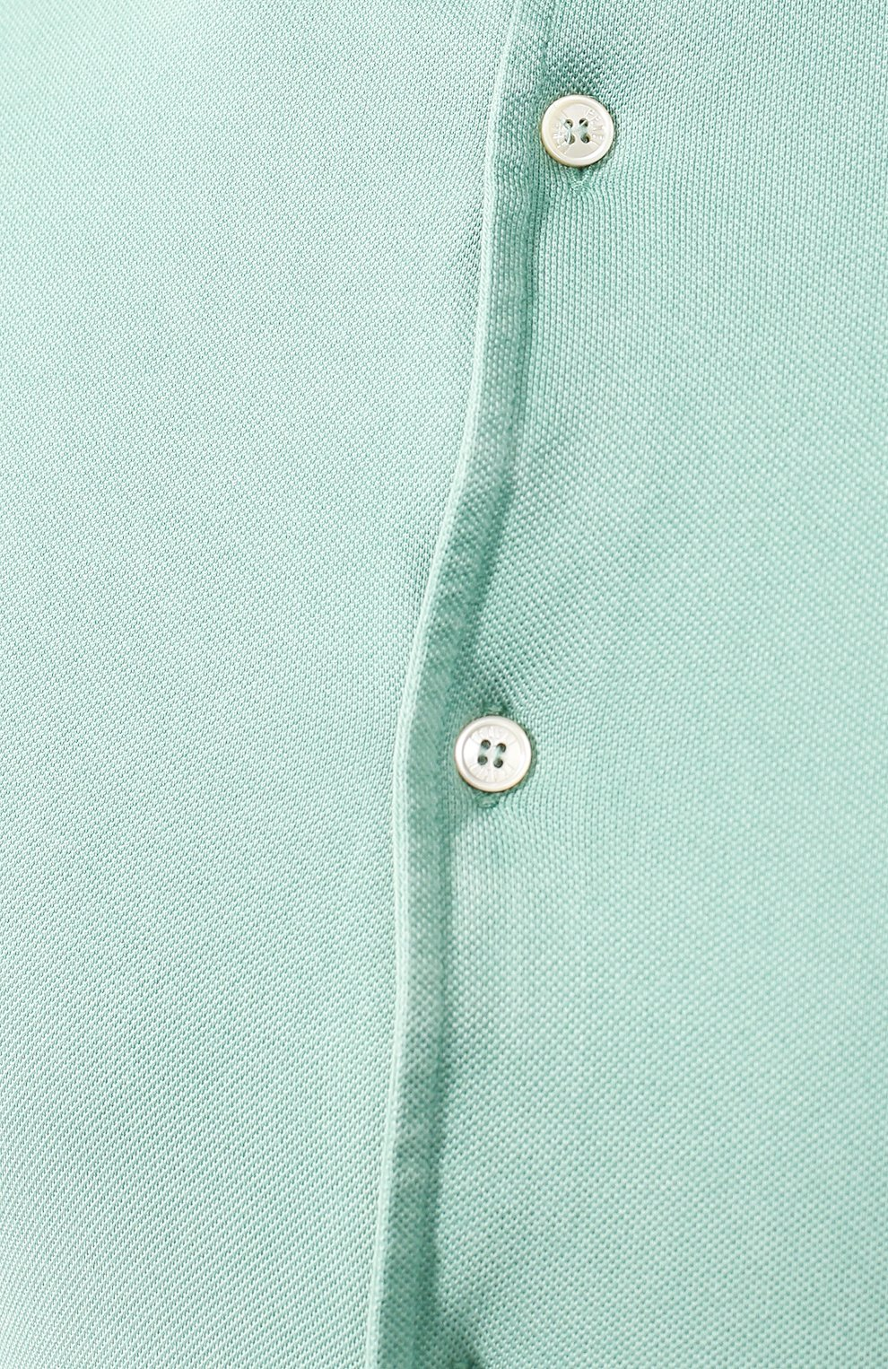 Хлопковая рубашка Fedeli светло-зеленая | Фото №5