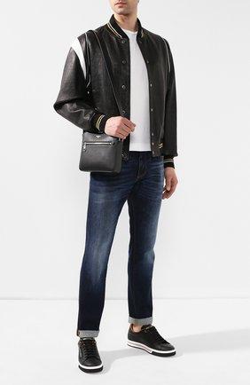 Мужская кожаный мессенджер gotico DOLCE & GABBANA черного цвета, арт. BM1622/AZ601 | Фото 2