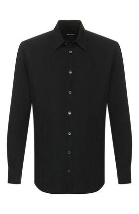 Мужская рубашка GIORGIO ARMANI черного цвета, арт. 9SGCCZ18/TZ314 | Фото 1
