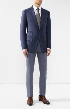 Мужской шерстяные брюки BERWICH голубого цвета, арт. SC/1 ALC/MZ1635 | Фото 2