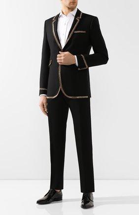 Мужской шерстяные брюки BERLUTI черного цвета, арт. R15TTU33-003 | Фото 2