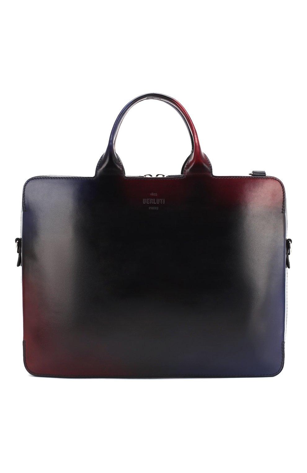 69ed7eaffe6a Мужская разноцветная кожаная сумка для ноутбука BERLUTI — купить за ...