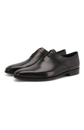 Мужские кожаные оксфорды BERLUTI черного цвета, арт. S4759-002 | Фото 1