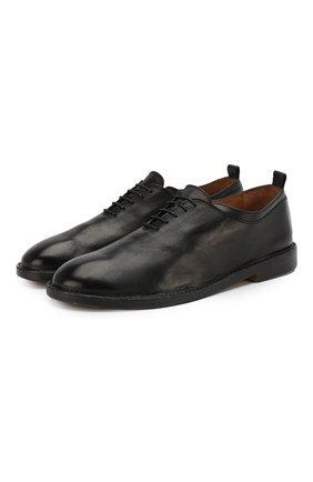 Мужские кожаные оксфорды ANTONIO MAURIZI черного цвета, арт. 9640/T0DI | Фото 1