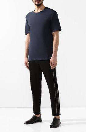 Мужские кожаные оксфорды ANTONIO MAURIZI черного цвета, арт. 9640/T0DI | Фото 2