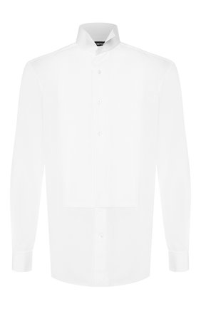 Мужская хлопковая сорочка с воротником бабочка TOM FORD белого цвета, арт. 5FT000/94C8CR   Фото 1