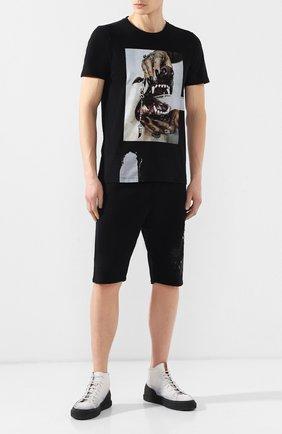 Мужская хлопковая футболка RH45 черного цвета, арт. 26HS27 | Фото 2 (Рукава: Короткие; Материал внешний: Хлопок; Длина (для топов): Стандартные; Стили: Панк)