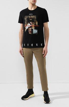 Мужская хлопковая футболка RH45 черного цвета, арт. 26HS29 | Фото 2 (Рукава: Короткие; Длина (для топов): Стандартные; Материал внешний: Хлопок; Принт: С принтом; Стили: Панк)